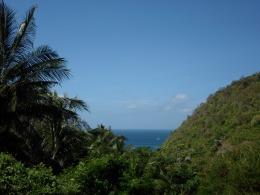 Vue du chemin pour se rendre à Nui Beach