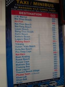 Tarifs transferts shuttle à Rassada Pier