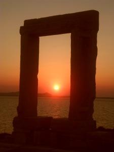 NAxos - La porte du temple d'Apollon