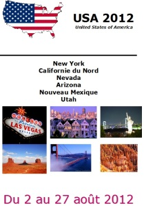 Carnet de voyage USA 2012