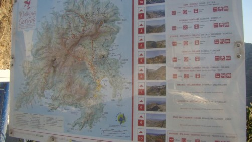 Parcours de randonnées à Serifos Island